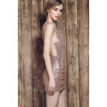 Sexy Spaghetti Strap Asymmetrical Sequined Slimming Women's Dress deal