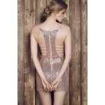 Sexy Spaghetti Strap Asymmetrical Sequined Slimming Women's Dress for sale