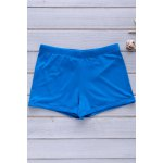 Elastic Solid Color Swimming Trunks For Men
