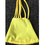 cheap Novelty Strappy Solid Color   Bikini Set For Women