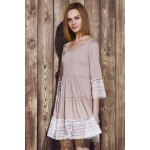 cheap Casual U-Neck 3/4 Sleeve Lace Splicing Loose-Fitting Women's Dress