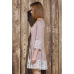 Casual Lace Splicing Loose-Fitting A Line Dress deal