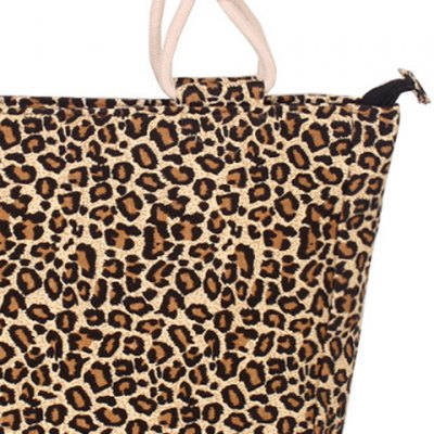 Casual Leopard Print and Canvas Design Tote Bag For Women