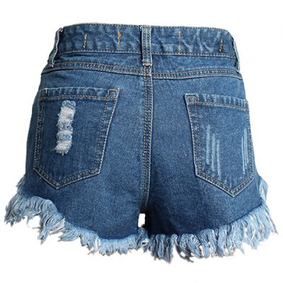 Street Style Mid Waist Rivet Embellish Hole Design Denim Shorts For WomenShorts<br>Street Style Mid Waist Rivet Embellish Hole Design Denim Shorts For Women<br><br>Style: Streetwear<br>Length: Mini<br>Material: Polyester<br>Fabric Type: Denim<br>Fit Type: Regular<br>Waist Type: Mid<br>Closure Type: Zipper Fly<br>Front Style: Flat<br>Pattern Type: Patchwork<br>With Belt: No<br>Weight: 0.402kg<br>Package Contents: 1 x Shorts