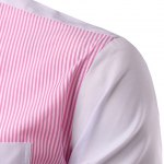 Casual Turn Down Collar Splicing Long Sleeves Shirt For Men for sale