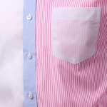 best Casual Turn Down Collar Splicing Long Sleeves Shirt For Men
