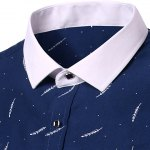 Casual Plant Printing Turn Down Collar Short Sleeves Shirt For Men deal