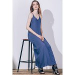 best Casual Spaghetti Strap Sleeveless Solid Color Loose-Fitting Dress For Women