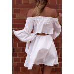 Trendy Off The Shoulder Butterfly Sleeve Back Cut Out Dress For Women deal