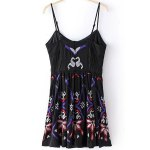 cheap Ethnic Embroidered Women's Camisole Dress