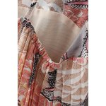 Fashion Spaghetti Straps Printed Pleated Chiffon Dress For Women deal