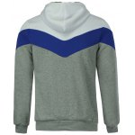 Slimming Trendy Hooded Personality Color Splicing Long Sleeves Men's Thicken Hoodies deal
