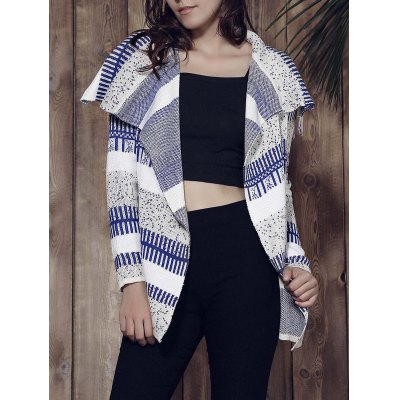 Long Sleeve Knitted Irregular Loose-Fitting Cardigan