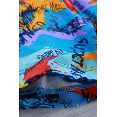 Elastic Colorful Printing Swimming Trunks For Men от GearBest.com INT