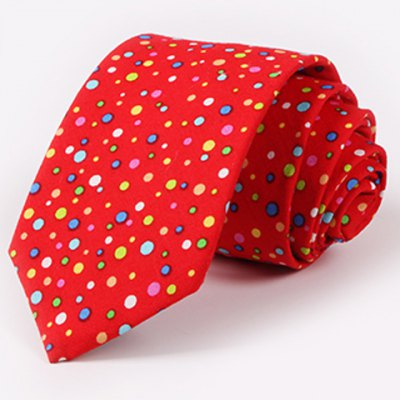 One Set Stylish Multicolor Polka Dots Pattern Tie and Handkerchief For Men