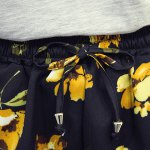 Plus Size High Waisted Floral Print  Culotte Shorts for sale
