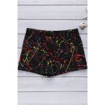 Men's Elastic Colorful Printing Swimming Trunks