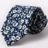 cheap One Set Stylish Fulled Flowers Pattern Tie and Handkerchief For Men