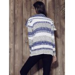 Stylish Long Sleeve Knitted Irregular Loose-Fitting Women's Cardigan photo