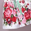 Sweet Floral Print Sleeveless Self-Tie Girl's Dress deal