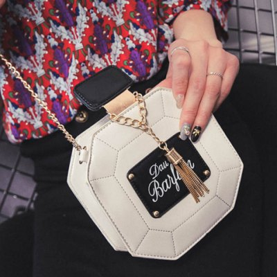 Sweet Tassel and Chain Design Crossbody Bag For WomenWomens Bags<br>Sweet Tassel and Chain Design Crossbody Bag For Women<br><br>Handbag Type: Shoulder bag<br>Style: Casual<br>Gender: For Women<br>Embellishment: Tassel<br>Pattern Type: Patchwork<br>Handbag Size: Mini(&lt;20cm)<br>Closure Type: Zipper<br>Interior: Cell Phone Pocket<br>Occasion: Versatile<br>Main Material: PU<br>Weight: 0.350kg<br>Size(CM)(L*W*H): 15*7*15<br>Strap Length: 125CM<br>Package Contents: 1 x Crossbody Bag