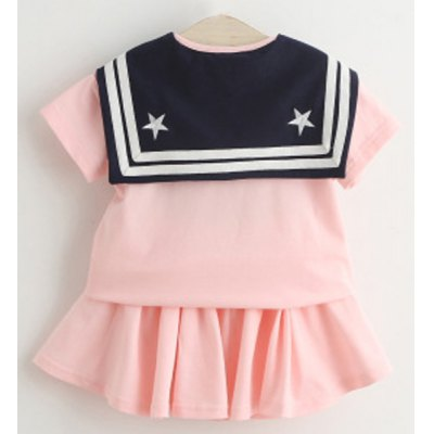 Cute Girls Sailor Collar Short Sleeve Letter Pattern T-Shirt + Pleated Skirt TwinsetGirls Clothing<br>Cute Girls Sailor Collar Short Sleeve Letter Pattern T-Shirt + Pleated Skirt Twinset<br><br>Material: Polyester<br>Clothing Length: Regular<br>Sleeve Length: Short<br>Style: Fashion<br>Pattern Style: Letter<br>Weight: 0.250kg<br>Package Contents: 1 x Skirt  1 x T-Shirt