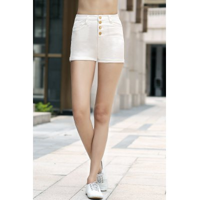Stylish High Waist Solid Color Shorts For Women от GearBest.com INT