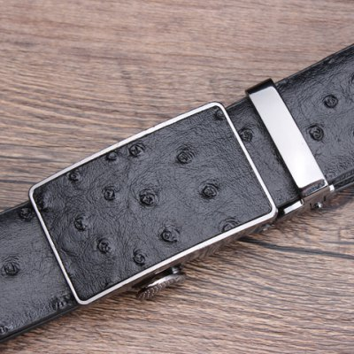 Stylish Ostrich Skin Embossing Faux Leather Wide Belt For Men