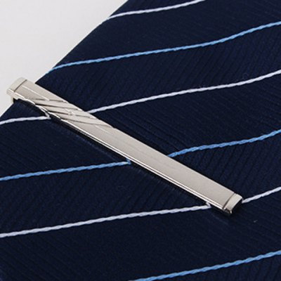 Hollow Pendant Twill Alloy Tie Clip For Men