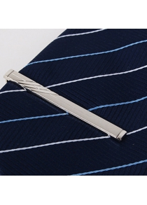 Stylish Hollow Pendant Twill Alloy Tie Clip For Men