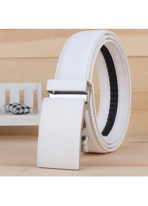 Stylish Smooth Alloy Rectangle Buckle Wide Belt For Men