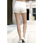 Stylish High Waist Solid Color Shorts For Women deal