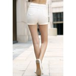Stylish High Waist Solid Color Shorts For Women for sale