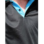 Short Sleeve Double Layered Turn Down Collar Slimming Men's Polo Shirt for sale