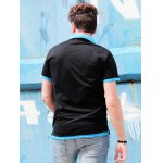 Short Sleeve Double Layered Turn Down Collar Slimming Men's Polo Shirt deal