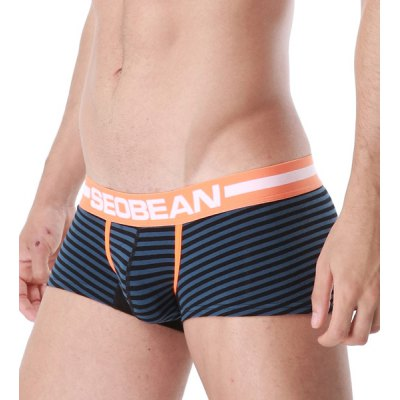 Letter Print Stripe U Pouch Design Boxer Brief For MenMens Underwear &amp; Pajamas<br>Letter Print Stripe U Pouch Design Boxer Brief For Men<br><br>Type: Boxers<br>Material: Cotton,Polyester<br>Pattern Type: Striped<br>Weight: 0.093kg<br>Package Contents: 1 x Boxer Brief