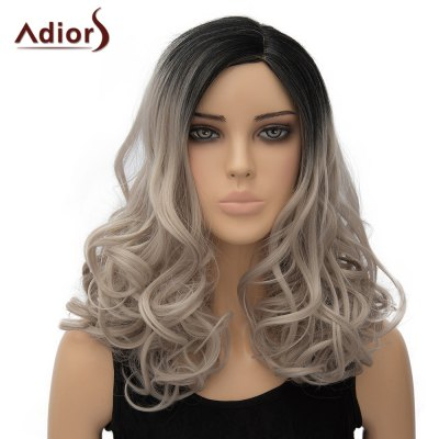 Long Shaggy Wave Side Parting Adiors Wig