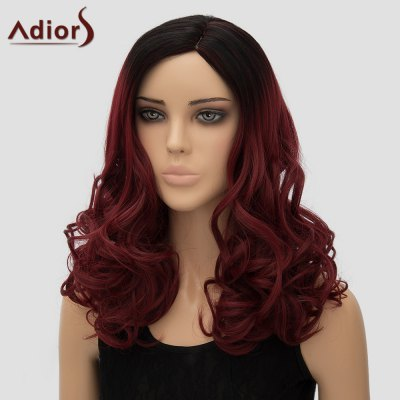 vogue-black-ombre-wine-red-long-fluffy-wave-side-parting-synthetic-adiors-wig-for-women