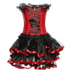 Strapless Spliced Lace-Up Gothic Corset Dress deal