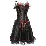cheap Chic Spaghetti Strap Lace Spliced Bowknot Embellished Women's Corset