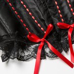Chic Spaghetti Strap Lace Spliced Bowknot Embellished Women's Corset photo