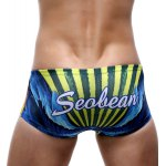 cheap Parrot Print Color Block Swimming Trunks For Men