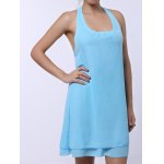 best Chiffon Cut Out Mini A Line Summer Dress