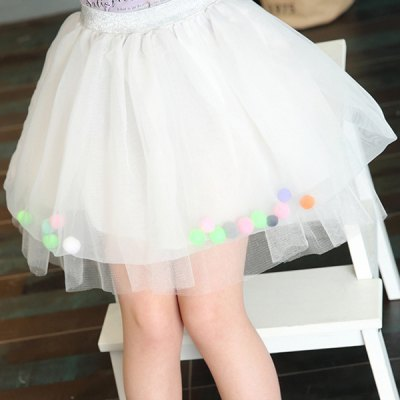 Sweet Elastic Waist Spliced Girls Bubble SkirtGirls Clothing<br>Sweet Elastic Waist Spliced Girls Bubble Skirt<br><br>Material: Polyester<br>Length: Mini<br>Silhouette: Ball Gown<br>Pattern Type: Patchwork<br>With Belt: No<br>Weight: 0.157kg<br>Package Contents: 1 x Skirt