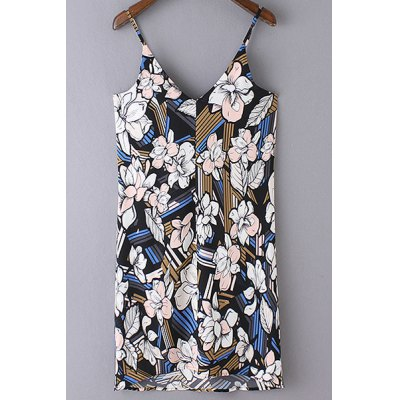 Stylish Cami Sleeveless Floral Print Women's Dress