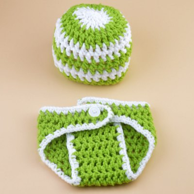Set of Fashion Color Matching Knitting Props Clothes Hat For Baby's Photography