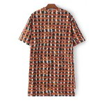 cheap Stylish Jewel Neck Short Sleeve Loose Letter Print Women's Dress