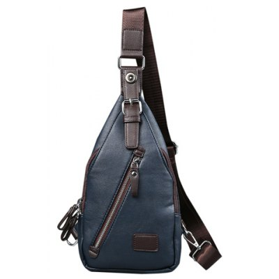 Trendy Buckle and Magnetic Closure Design Messenger Bag For Men