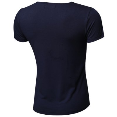 Simple Round Neck Solid Color Short Sleeve Men's T-Shirt