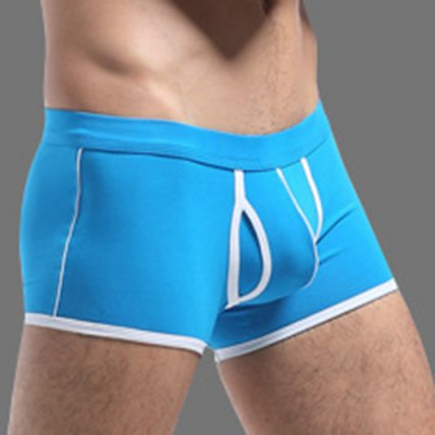 Color Block Elastic Waist U Pouch Boxers For MenMens Underwear &amp; Pajamas<br>Color Block Elastic Waist U Pouch Boxers For Men<br><br>Material: Cotton Blends<br>Pattern Type: Others<br>Weight: 0.097kg<br>Package Contents: 1 x Boxers